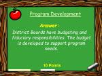 program development9