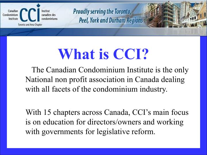 What is CCI?