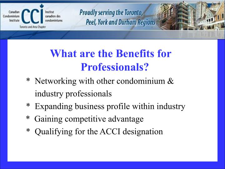 What are the Benefits for Professionals?