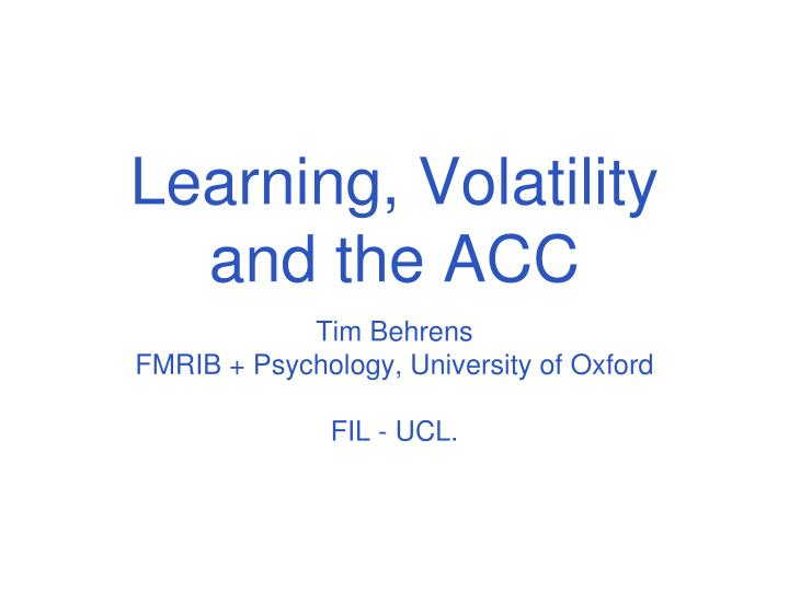 learning volatility and the acc n.