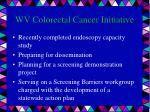 wv colorectal cancer initiative