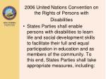 2006 united nations convention on the rights of persons with disabilities