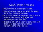ajax what it means