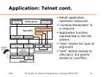 application telnet cont