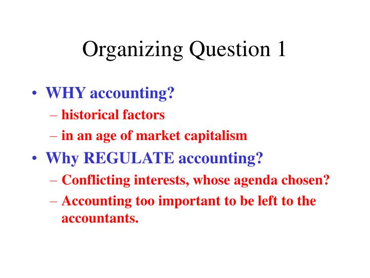 organizing question 1 n.