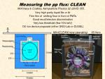 measuring the pp flux clean