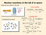 nuclear reactions in the lab in space