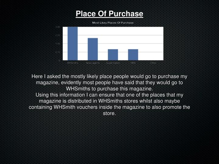 Place Of Purchase