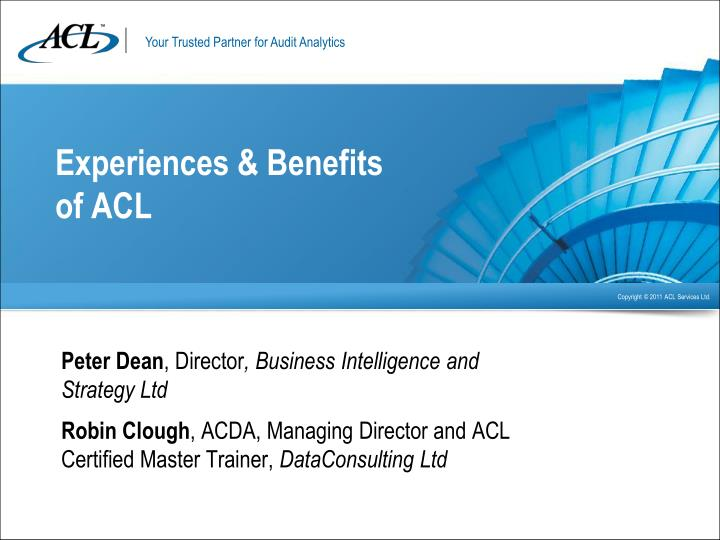 experiences benefits of acl n.