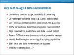 key technology data considerations