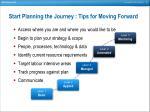 start planning the journey tips for moving forward