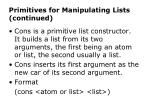 primitives for manipulating lists continued2