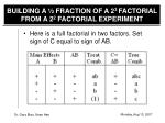 building a fraction of a 2 3 factorial from a 2 2 factorial experiment