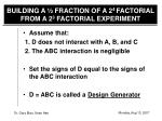 building a fraction of a 2 4 factorial from a 2 3 factorial experiment1