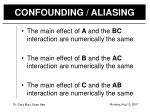 confounding aliasing