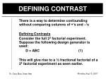 defining contrast