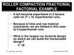 roller compaction fractional factorial example1