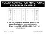 roller compaction fractional factorial example6