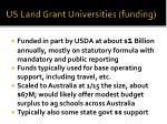 us land grant universities funding