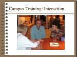 campus training interaction