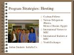 program strategies hosting
