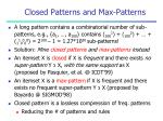 closed patterns and max patterns