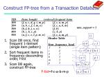 construct fp tree from a transaction database