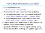 mining multi dimensional association