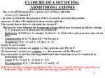 closure of a set of fds armstrong axioms