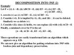 decomposition into 3nf 2