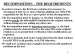 decomposition the requirements