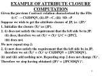 example of attribute closure computation