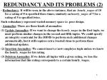 redundancy and its problems 2