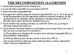 the decomposition algorithm