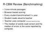 r cbm review benchmarking