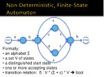 non deterministic finite state automaton