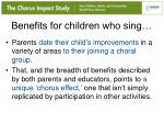 benefits for children who sing1