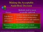 making the acceptable audit risk decision1