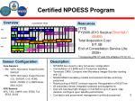 certified npoess program