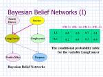 bayesian belief networks i
