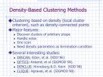 density based clustering methods