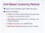 grid based clustering method