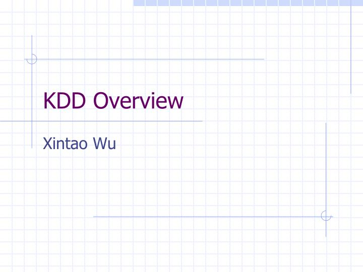 kdd overview n.