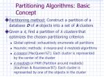 partitioning algorithms basic concept