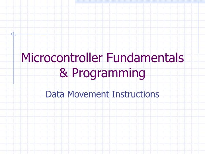 microcontroller fundamentals programming n.