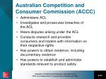australian competition and consumer commission accc