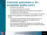 consumer guarantees s 54 acceptable quality cont