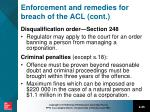 enforcement and remedies for breach of the acl cont1