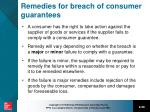 remedies for breach of consumer guarantees