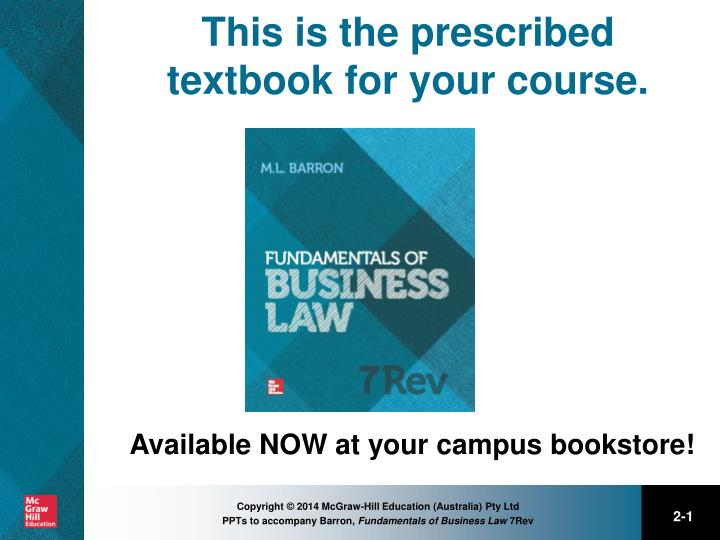 this is the prescribed textbook for your course n.